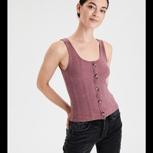 American Eagle | Button Front Tank Top